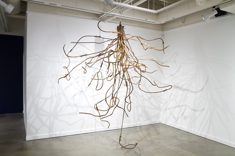Steel Root Structure - aprox. 8' x 8' x 10'  found steel