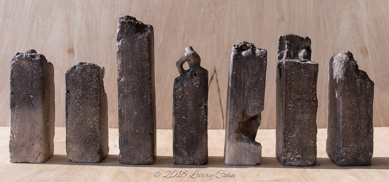 """Untitled - wood fired stoneware 2.5"""" x 2.5"""" x approx. 6-10"""""""