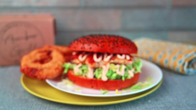 chicken burger no logo
