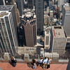 "SQUARE VERSION Rockefeller Center ""Top of the Rock"" view"