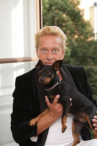 Bildreportage med Björn Ranelid för tidningen Härliga Hund