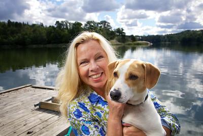 Reportage med Görel Crona Richert för tidningen Härliga Hund