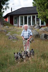 Bildreportage med Kjellolof och Birgitta för tidningen Härliga Hund