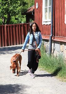 Bildreportage med Malin Berghagen för tidningen Härliga Hund