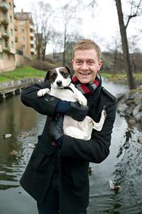 Bildreportage med Tobbe för tidningen Härliga Hund