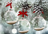 5x7 Frosted Glass Ornaments