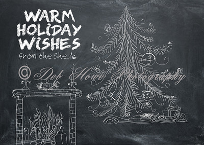 5x7 Photo Card - Chalkboard Christmas Cheer