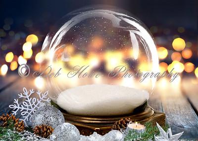 5x7 Twinkling Snow Globe