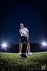 Senior Portrait of a golfer using an 8mm fisheye.<br /> <br /> Strobist Info:<br /> Sony A77 with Samyang/ProOptic 8mm f3.5 Fisheye<br /> ISO100 1/60 f5.6<br /> Alienbee 800 with 32x40 softbox camera right full power<br /> Lumopro LP160's for rim light camera right and left, 1/4 power
