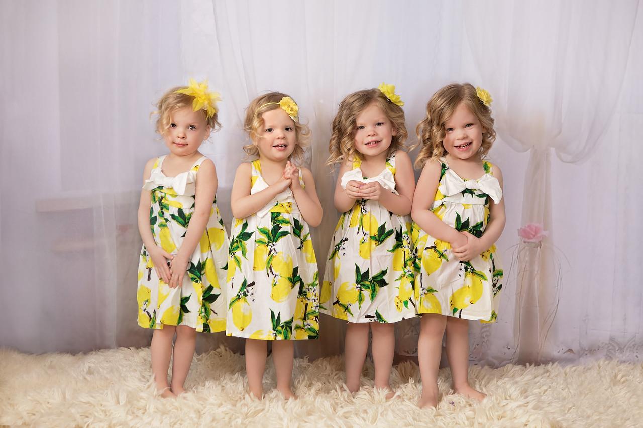 Gardner 3 year all 4 girls easter dresses