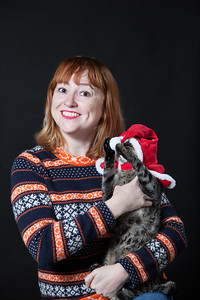 80's studio style xmas card with cats