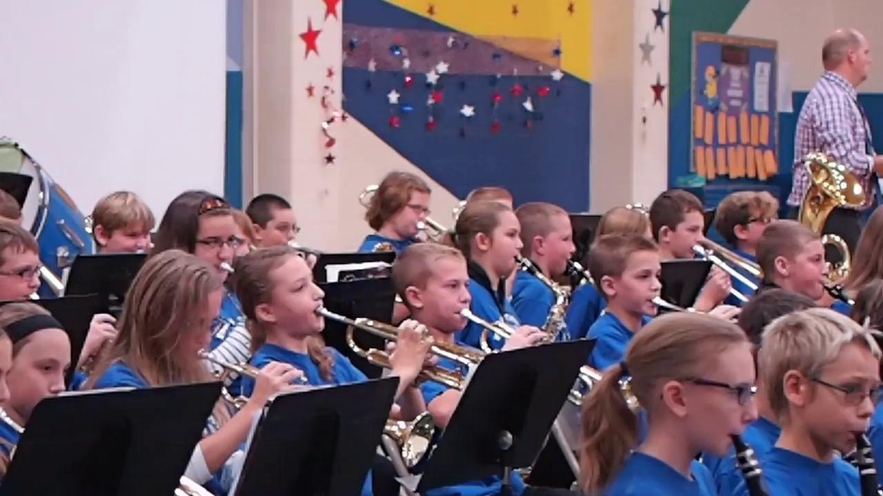 Sixth Grade Band Veteran's Day program