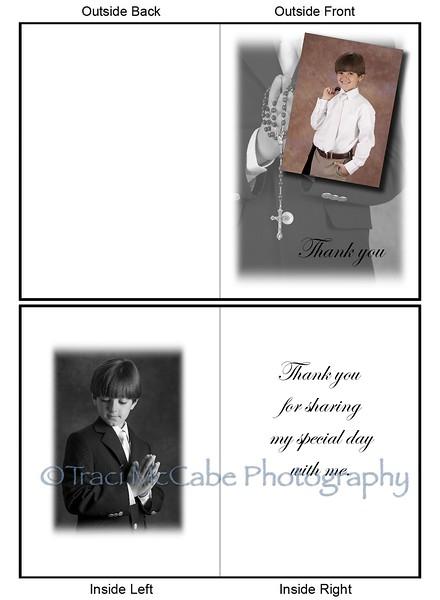 Fine art thank you card