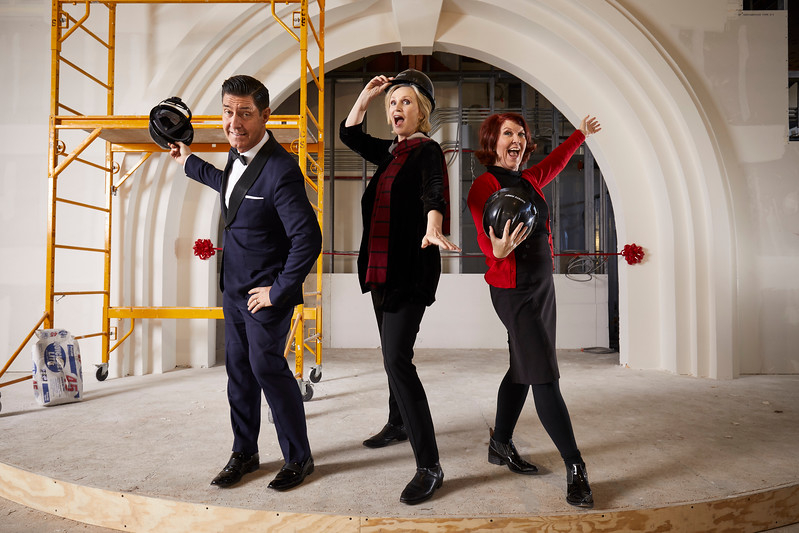 Jayne Lynch with Kate Flannery and Tim Davis - for The Cabaret, Indianapolis