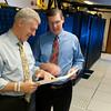 Valassis CEO Rob Mason (L) and Chairman of the Board Al Schultz in the Valassis data center