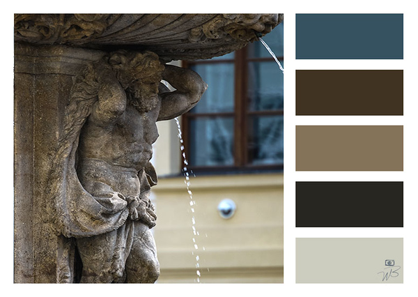 Prague Castle Muted Blue and Brown Color Palette
