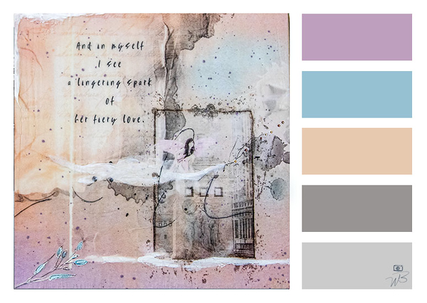 Mixed Media Photograph Color Palette in Muted Tones