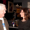 Shaie Williams / for AGN Media<br /> <br /> Don Babcock and Elaine Hays talk shop at a local watch party held at Joe Daddy's March 4, 2014.