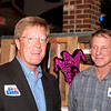 Shaie Williams / for AGN Media<br /> <br /> Bill Bandy left and Rusty Henson talking at the local watch party held at Joe Daddy's March 4, 2014. for the March primary election.
