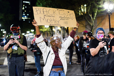 Ongoing protests against police brutality on Friday, July 17, 2020, in Portland, Ore. (Michael Arellano for DailyMail.com)
