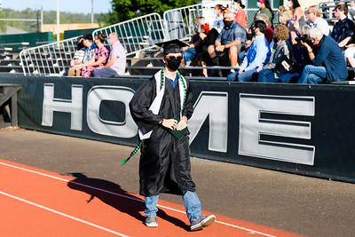 West Salem High School graduation ceremony on Tuesday, August 4, 2020, in Salem, Ore. (Michael Arellano for Salem-Keizer School District)