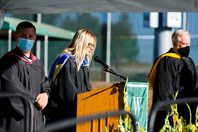 West Salem High School graduation ceremony on Tuesday, August 4, 2020, in Salem, Ore. (Michael Arellano for Salem-Keizer School District)