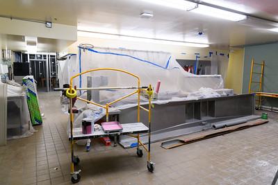 McNary High School kitchen under construction on Friday, August 16, 2019, in Keizer, Ore.