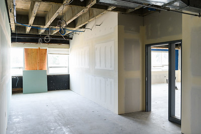 New corridor walling in McNary High School on Friday, August 16, 2019, in Keizer, Ore.