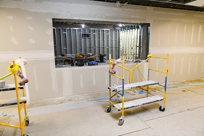 New gypsum boarding for McNary High School's student store on Friday, August 16, 2019, in Keizer, Ore.