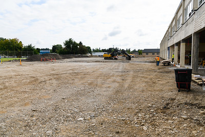 Recently demolished mixed-use classrooms at McNary High School on Friday, August 16, 2019, in Keizer, Ore.