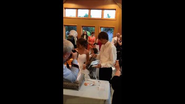 Kelley and Sara Wedding Cake Cutting