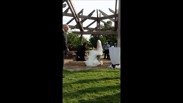 Kelley and Sara Wedding Feet Washing
