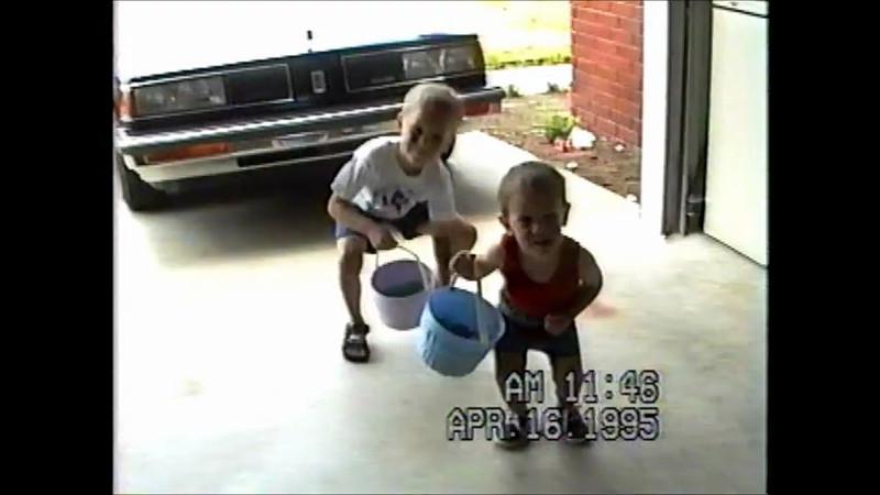 Boys garage easter baskets