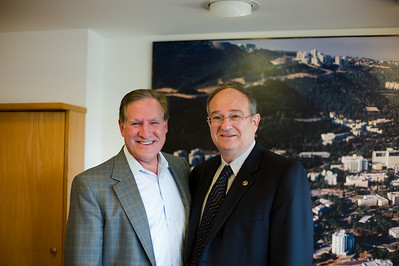 UW Milwaukee Chancellor Carlos Santiago and Technion President Professor Peretz Lavie