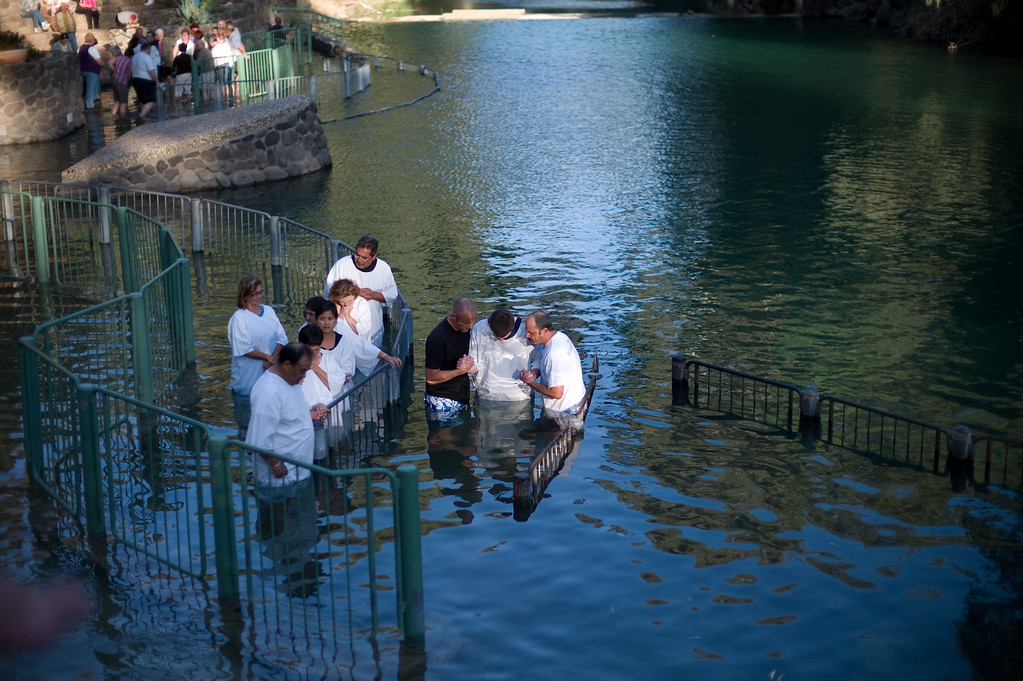 Baptism on the River Jordan. The baptism is free but there is a charge for the locker rooms.