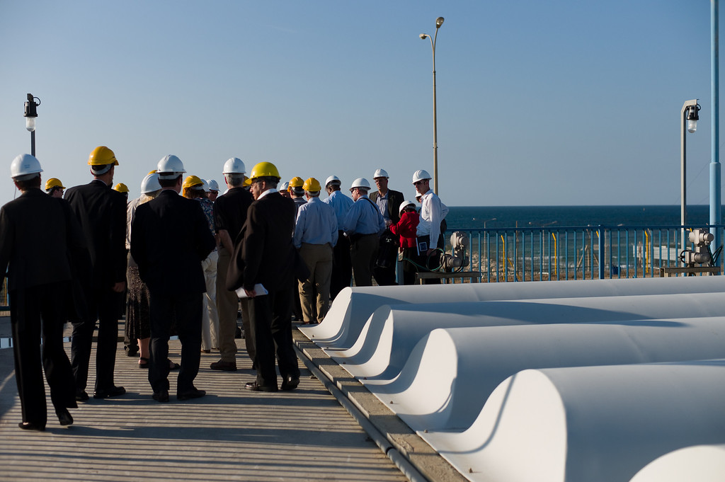 The delegation at the Desalination Plant.