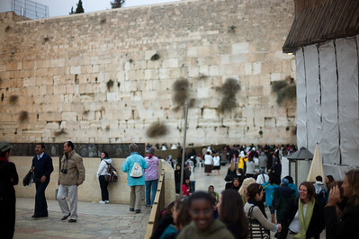 The entrance to the women's side of the Wailing Wall.