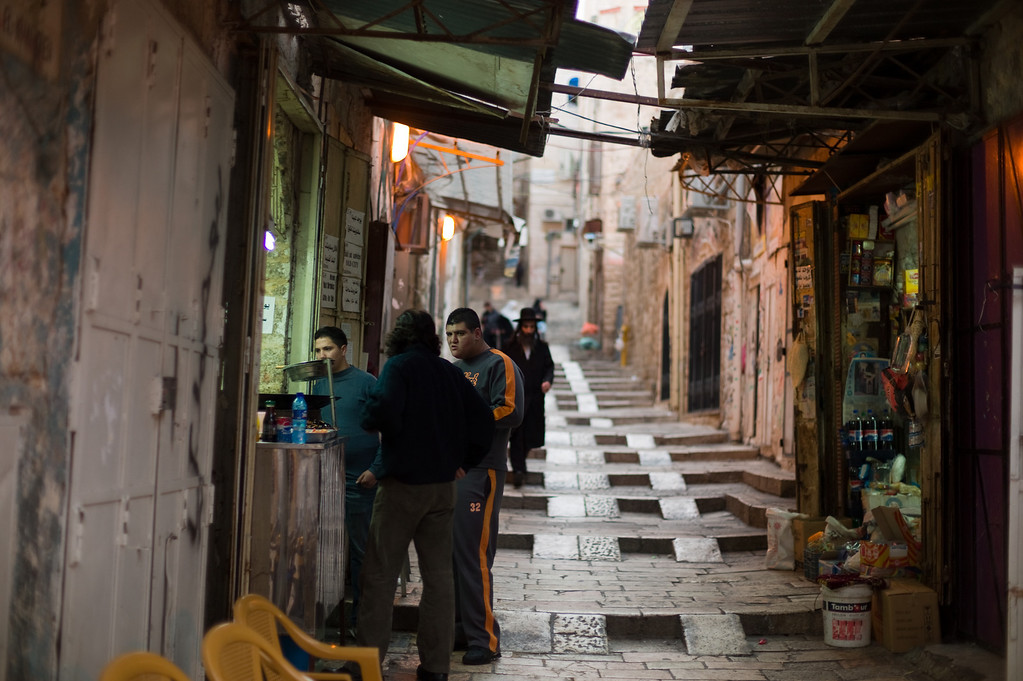 One of the many stalls in the Old City of Jerusalem.