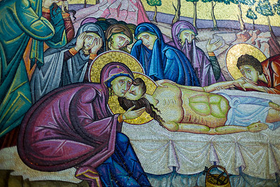 Crucifixion Mosaic at a Station of the Cross