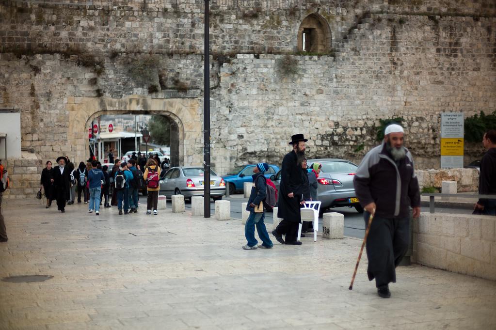 Entering the Jewish Quarter.