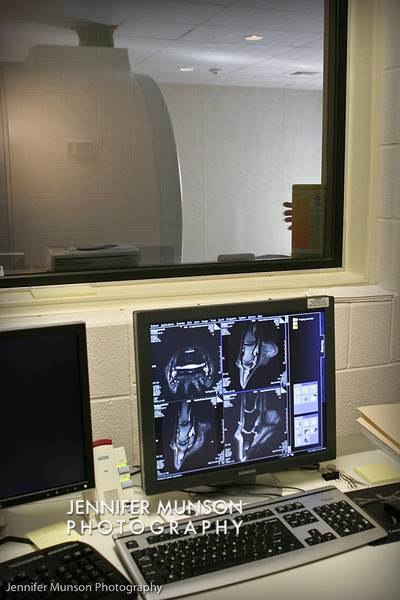 MRI Machine from control room 2