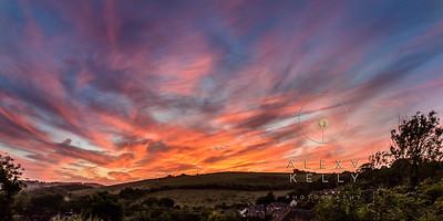 Howard House sunset