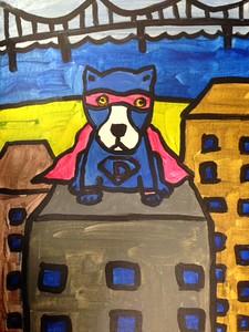 Blue Dog Super Hero