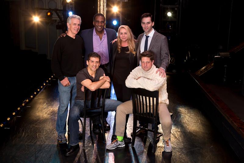 (Top, l-r) James Naughton, Norm Lewis, Jo-Ann Bethell Pantuso, Ryan Silverman.  (Bottom, l-r) Tony Yazbeck, Christopher Sieber.  (Photo: Jeremy Daniel)