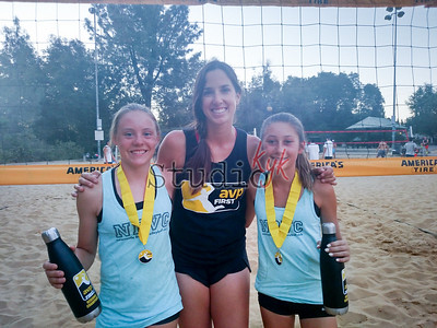 Brenna, Traci (AVP rep)   & Scotti  -  1st place