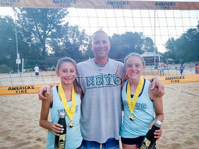 Scotti, Coach Greg Krause and Brenna  - 1st place