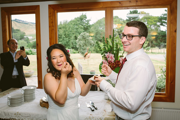 Lisa and Leslie's wonderful wedding reception at the Spellbound Retreat in Pauatahanui