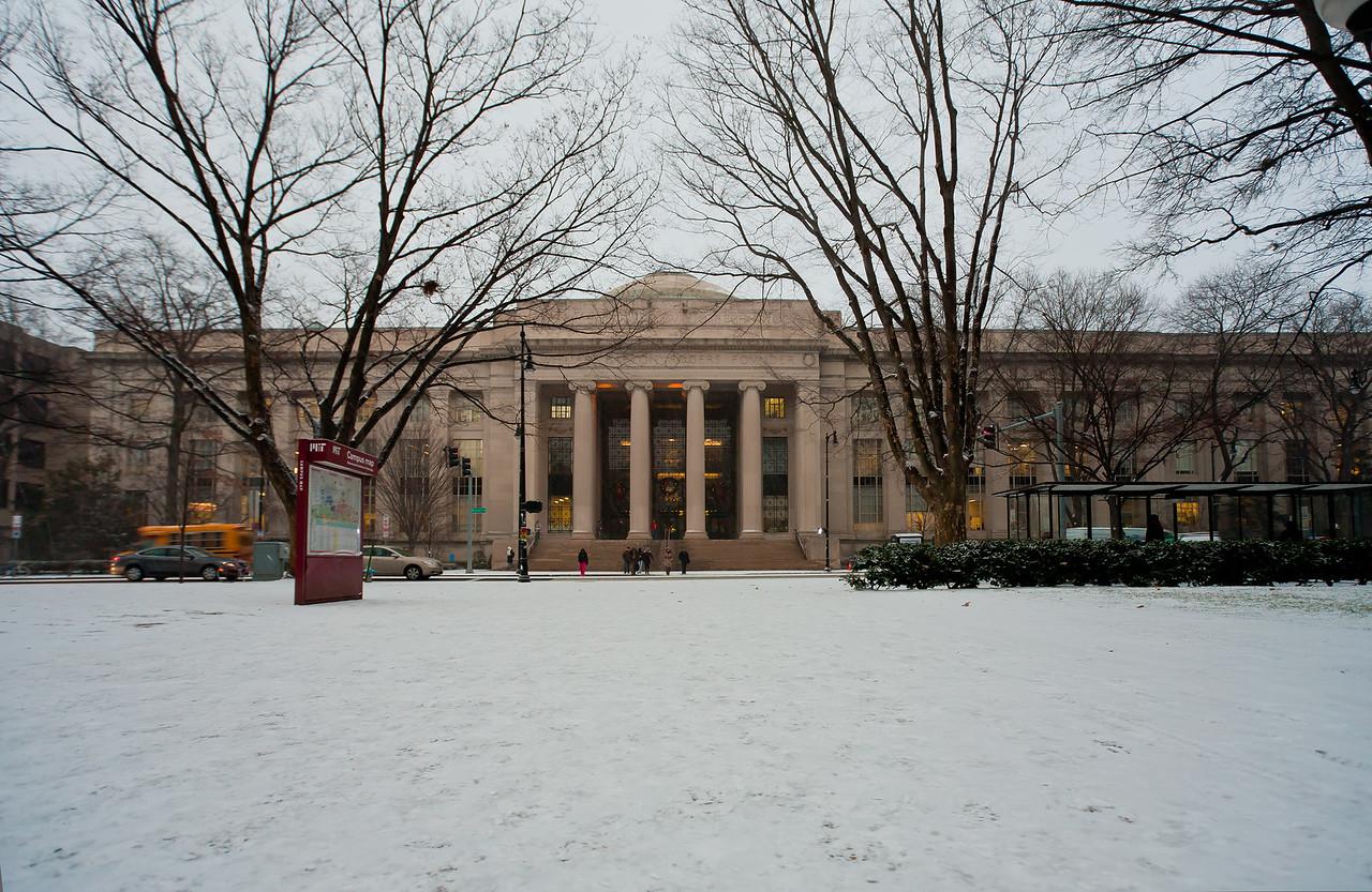 First snow day, Dec 2010. 77 Mass. Ave. MIT.