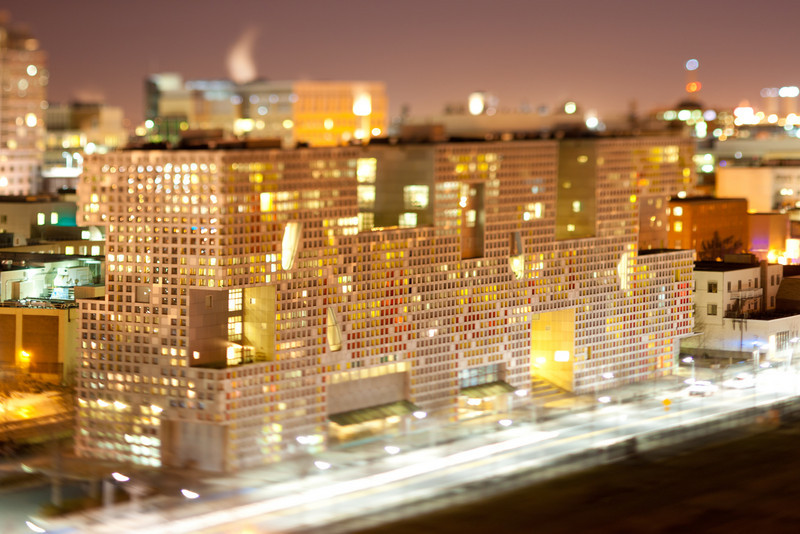 Simmons Hall of MIT. Miniature effect -- Tilt-Shift Lens Canon 90mm f/2.8 TSE.