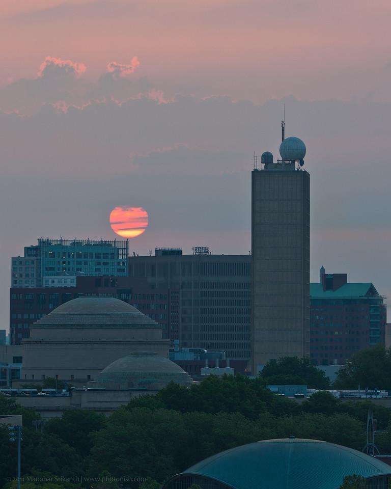 Sunrise on the east. Cambridge, MA.